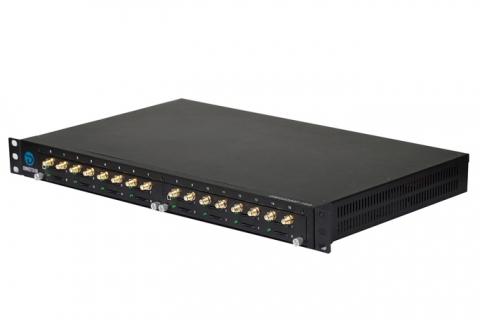 Сотовый шлюз Dinstar DWG2000F-16GSM - VoIP-GSM шлюз, 16 GSM каналов, SIP, SMS, базовый блок на 16 GSM